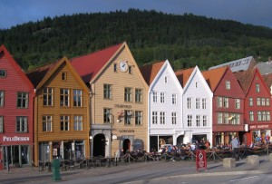 Along the bryggen in Bergen